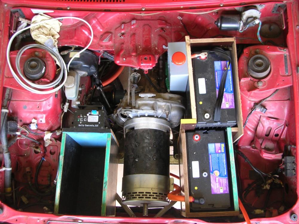 Electric Brumby Lead Acid Under Bonnet